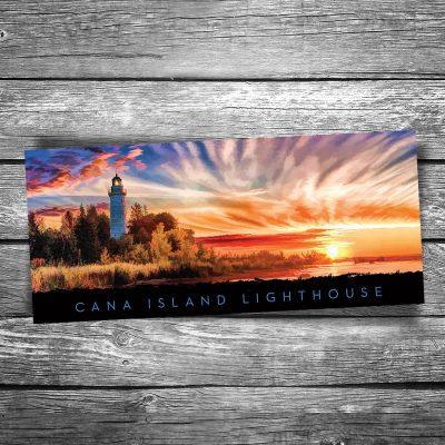 Cana Island Lighthouse Panorama Postcard