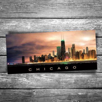 Chicago Gotham City Panorama Postcard