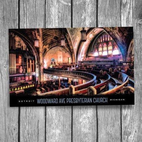 101-Detroit-Woodward-Ave-Presbyterian-Church-Postcard-F