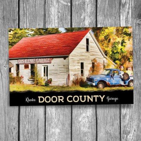 102-Gus-Klenke-Garage-Door-County-Postcard