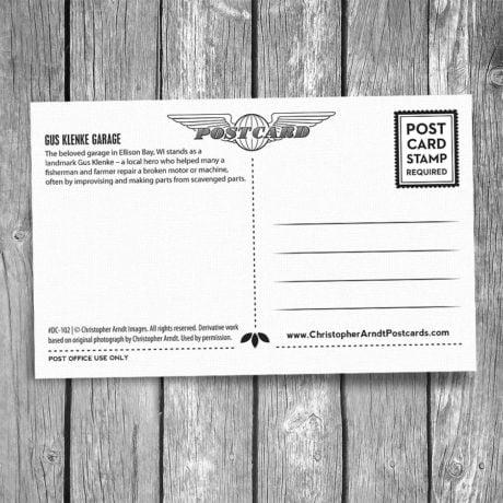 102-Gus-Klenke-Garage-Door-County-Postcard-B