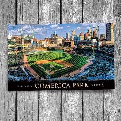 Detroit Comerica Park Postcard