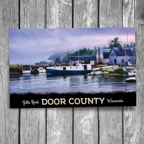 103-Gills-Rock-Door-County-Postcard