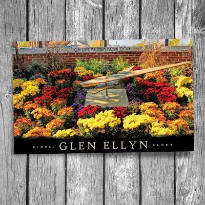 Glen Ellyn Millennium Floral Clock Postcard