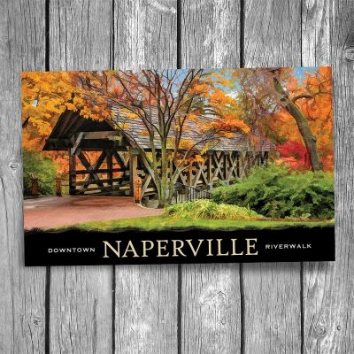 Naperville Covered Bridge Postcard