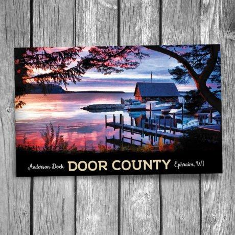 105-Anderson-Dock-Sunset-Door-County-Postcard