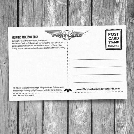 105-Anderson-Dock-Sunset-Door-County-Postcard-B
