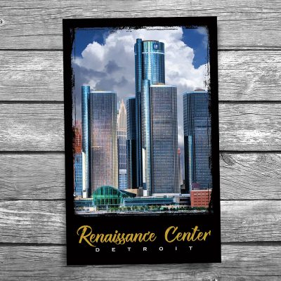 Detroit Renaissance Center Postcard
