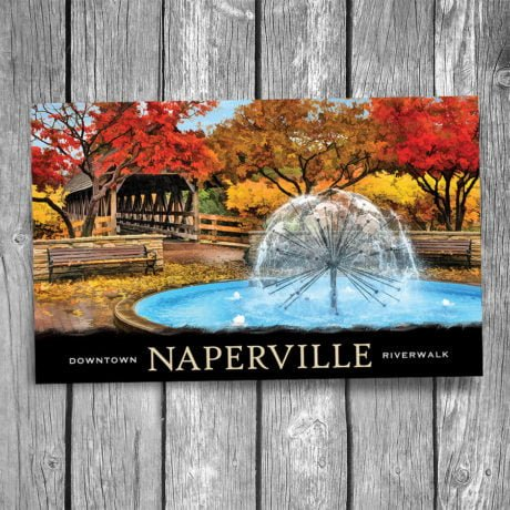 105-Naperville-Dandelion-Fountain-Postcard