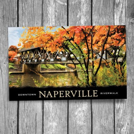 106-Naperville-Covered-Bridge-Autumn-Postcard