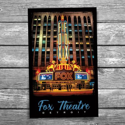 Detroit Fox Theatre Postcard
