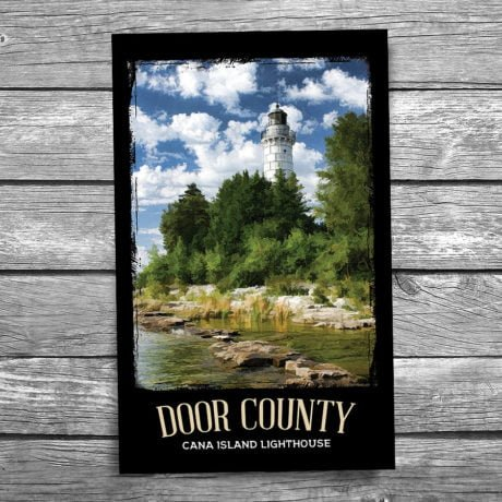 109-Cana-Island-Lighthouse-Door-County-Postcard