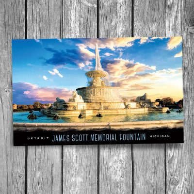 Detroit James Scott Fountain Postcard