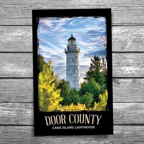 128-Cana-Island-Lighthouse-Beacon-Door-County-Postcard