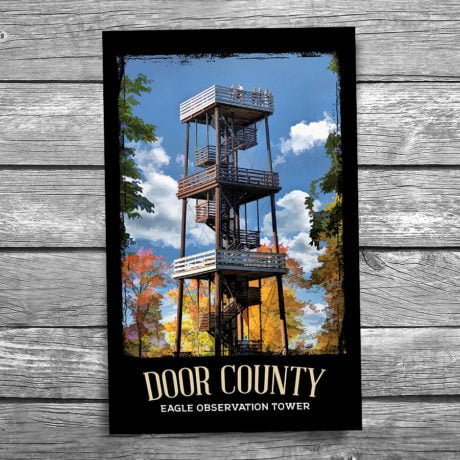 134-Eagle-Bluff-Observation-Tower-Door-County-Postcard