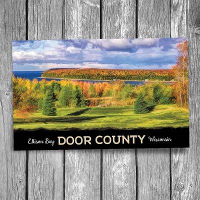 Door County Ellison Bay Bluff Overlook Postcard