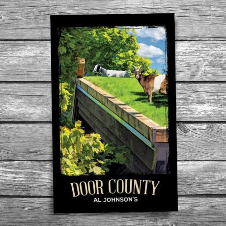 145-Al-Johnsons-Goats-Door-County-Postcard