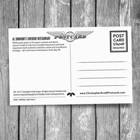 145-Al-Johnsons-Goats-Door-County-Postcard-B