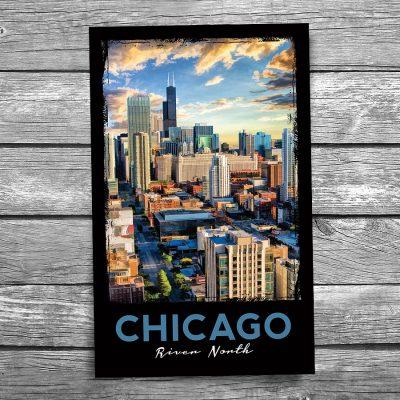Chicago River North Postcard