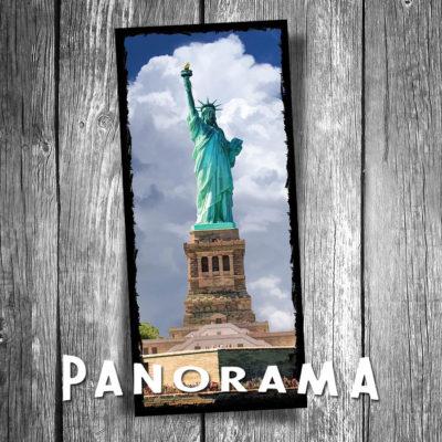 Statue of Liberty Panorama Postcard