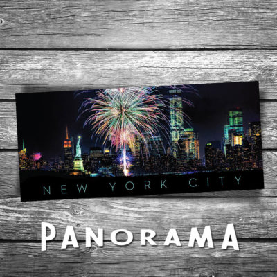 New York City Skyline Panorama Postcard