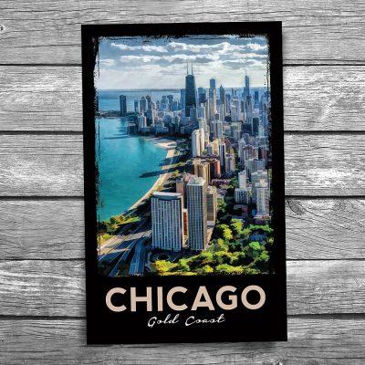 Chicago Gold Coast Skyline Postcard