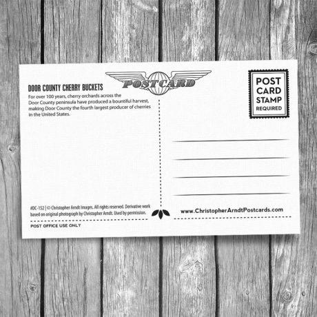 152-Door-County-Cherry-Buckets-Postcard-B