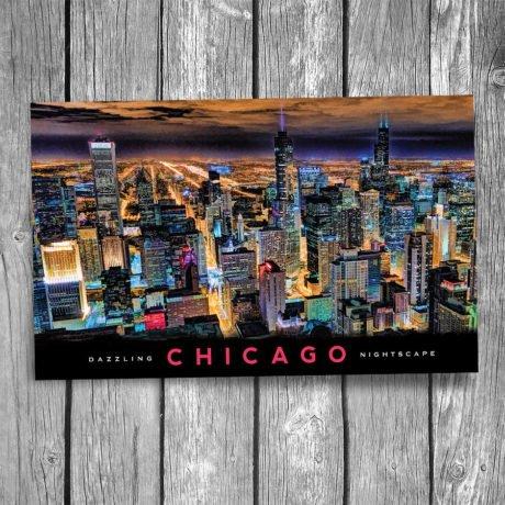 153-Chicago-Lights-Postcard-Front