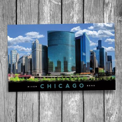 Chicago Downtown River Bend Postcard