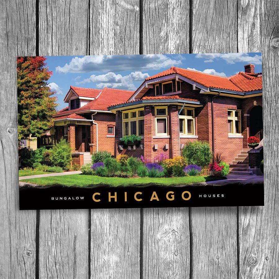 Chicago Bungalow Postcard | Christopher Arndt Postcard Co.