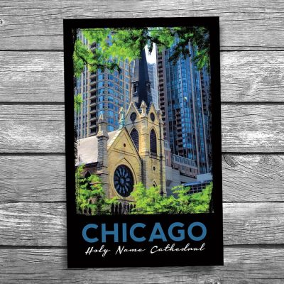 Chicago Holy Name Cathedral Postcard