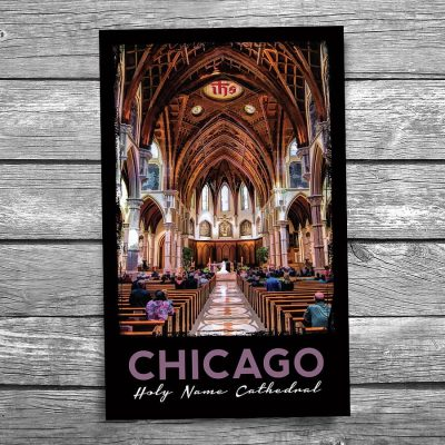 Chicago Holy Name Cathedral Interior Postcard