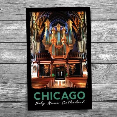 Chicago Holy Name Cathedral Organ Postcard