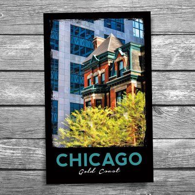 Chicago Gold Coast Architecture Postcard