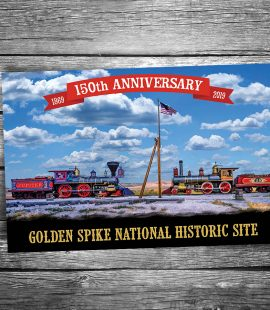 Golden Spike 150th Anniversary Postcard