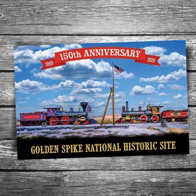 Golden Spike 150th Anniversary Postcard