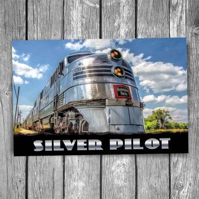 Silver Pilot Engine Postcard