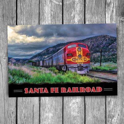 Santa Fe Railroad F7 Engine Postcard