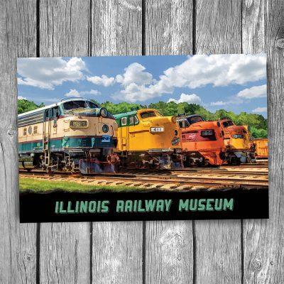 Illinois Railway Museum Postcard