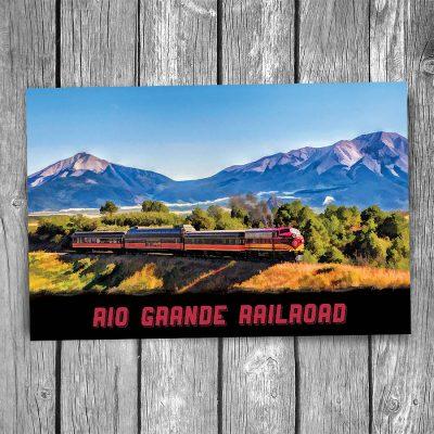 Rio Grande Railroad Postcard