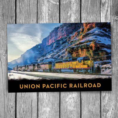 Union Pacific Echo Canyon Postcard