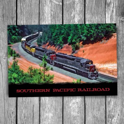 Southern Pacific Railroad Donner Pass Postcard