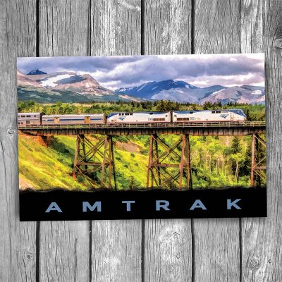 Amtrak Empire Builder Trestle Postcard