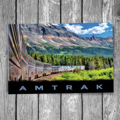Amtrak Empire Builder Glacier Park Postcard
