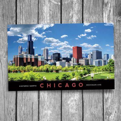 Chicago Historic Michigan Avenue Postcard