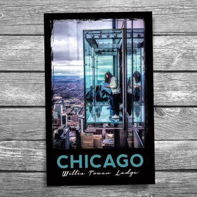 Chicago Willis Tower Ledge Postcard