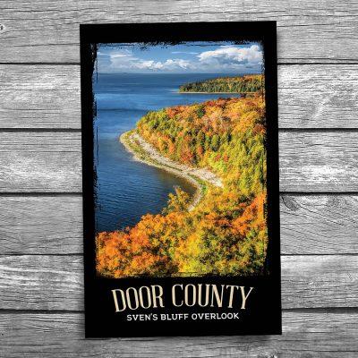 Door County Svens Bluff Overlook Postcard