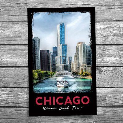 Chicago River Tour Trump Tower Postcard