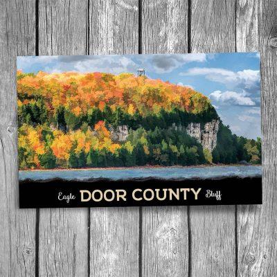 Door County Peninsula Eagle Bluff Postcard