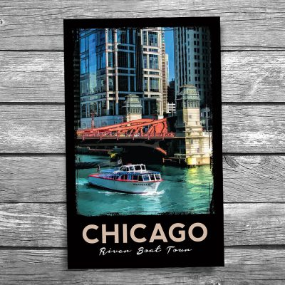Chicago Wendella Boat Tours Postcard